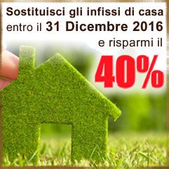Incentivi 2016 Sostituzione Infissi