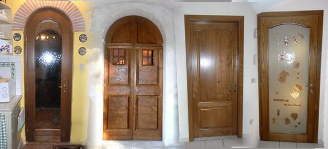 Porte in legno arezzo produzione porte in legno massello - Pitture da interno ...